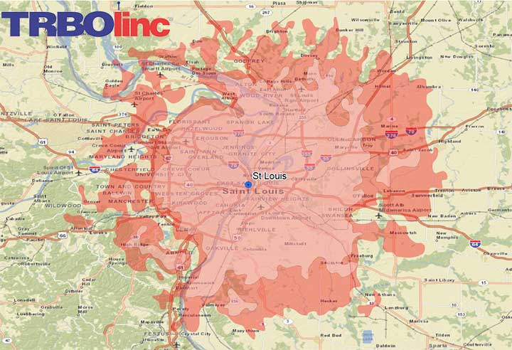 Downtown St Louis Hotels Map on